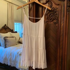 Brandy Melville White Babydoll Dress